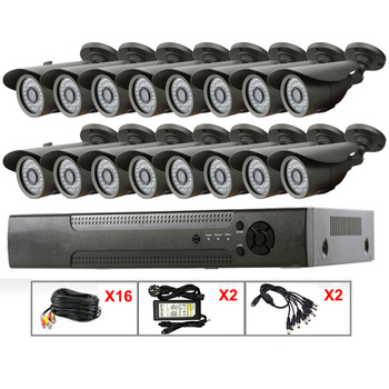 Professional surveillance camera 16ch Economic DVR System Kit, Home Alarm System