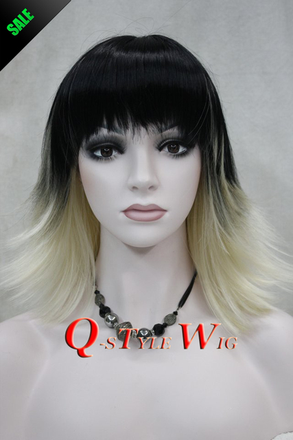 Admirable Wholesale Wig Short Ombre Black To Red Or Blonde Wavy Highlight Short Hairstyles For Black Women Fulllsitofus