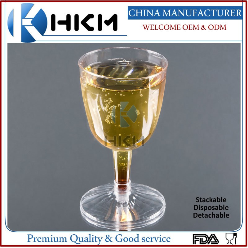 factory offer disposable exquisite plastic champagne party glasses
