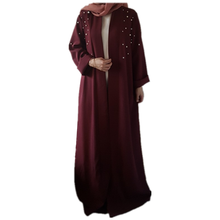 Nieuwe Aankomst Parel Open <span class=keywords><strong>Abaya</strong></span> Mode Kimono Moderne Islmaic Kimono Kleding <span class=keywords><strong>Dubai</strong></span> <span class=keywords><strong>Abaya</strong></span>