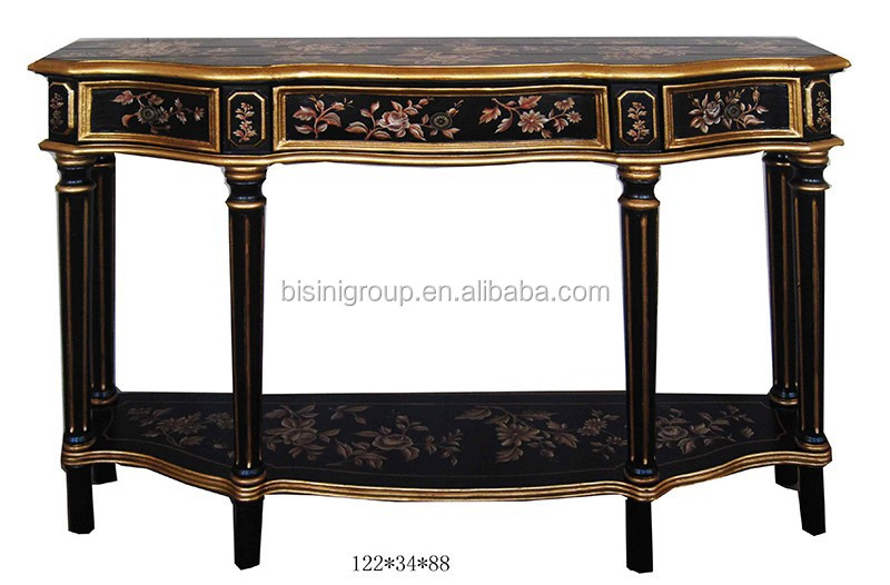 Antique Chinoiserie Style Hand Painted Black Console Hall Table Bf11 03281i    Buy Antique Wood Console Tables,Elegant Console Tables,Antique Wood Hall  Table ...