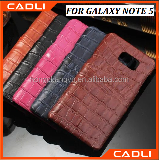 2016 factory direct supply new genuine crocodile leather phone case for Samsung Galaxy Note 5