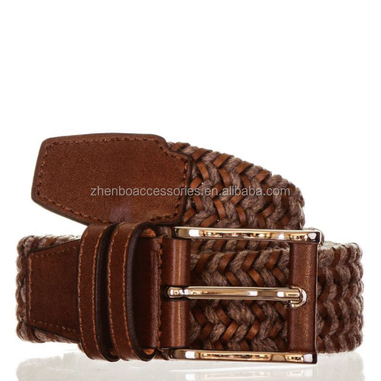 Factory directly custom hemp leather belt for men
