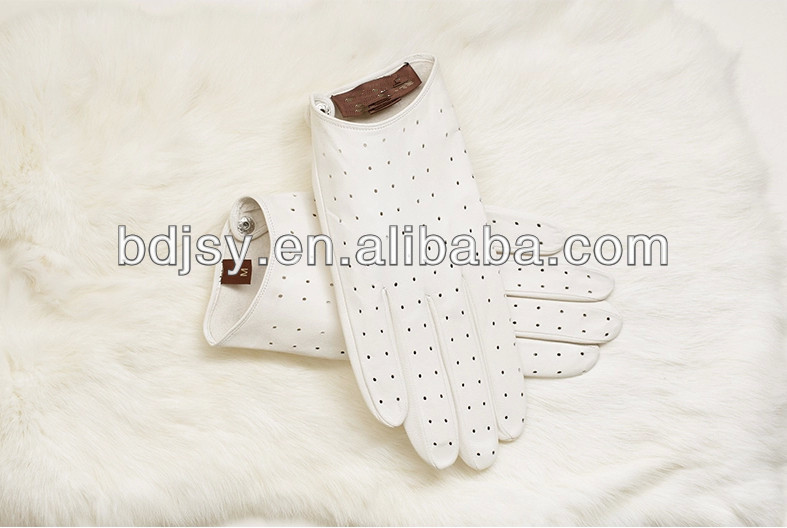 Men's sheepskin golf leather glove white leather gloves