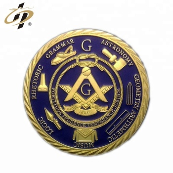 High quality cheap custom metal masonic souvenir coins