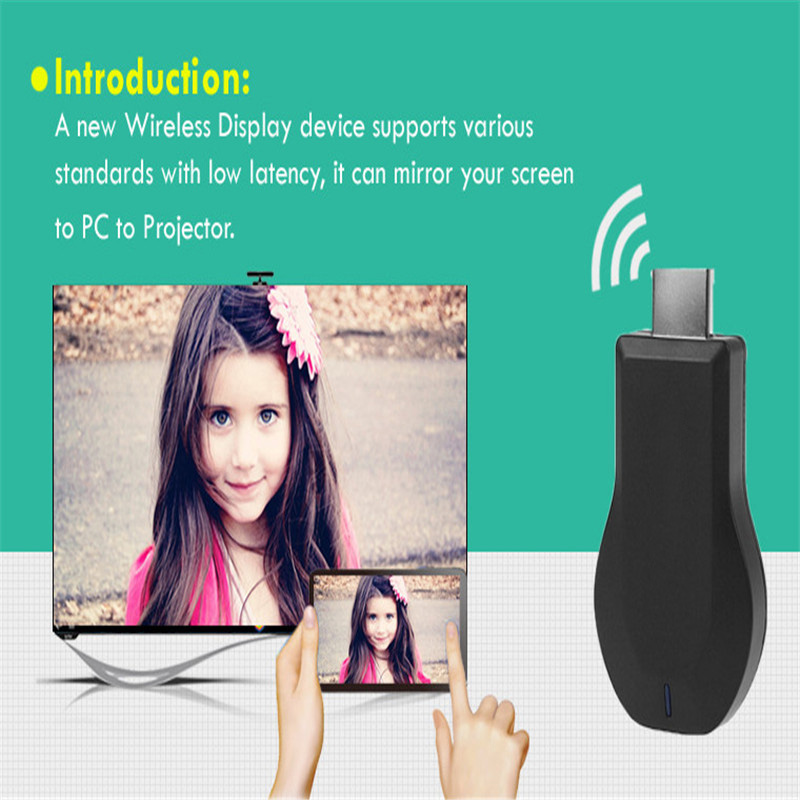 Portable HD 1080P 2.4G Wireless WiFi Display <strong>Dongle</strong> Receiver for DLNA for Miracast <strong>TV</strong> <strong>Dongle</strong> <strong>HDMI</strong> Multi-display Adapter