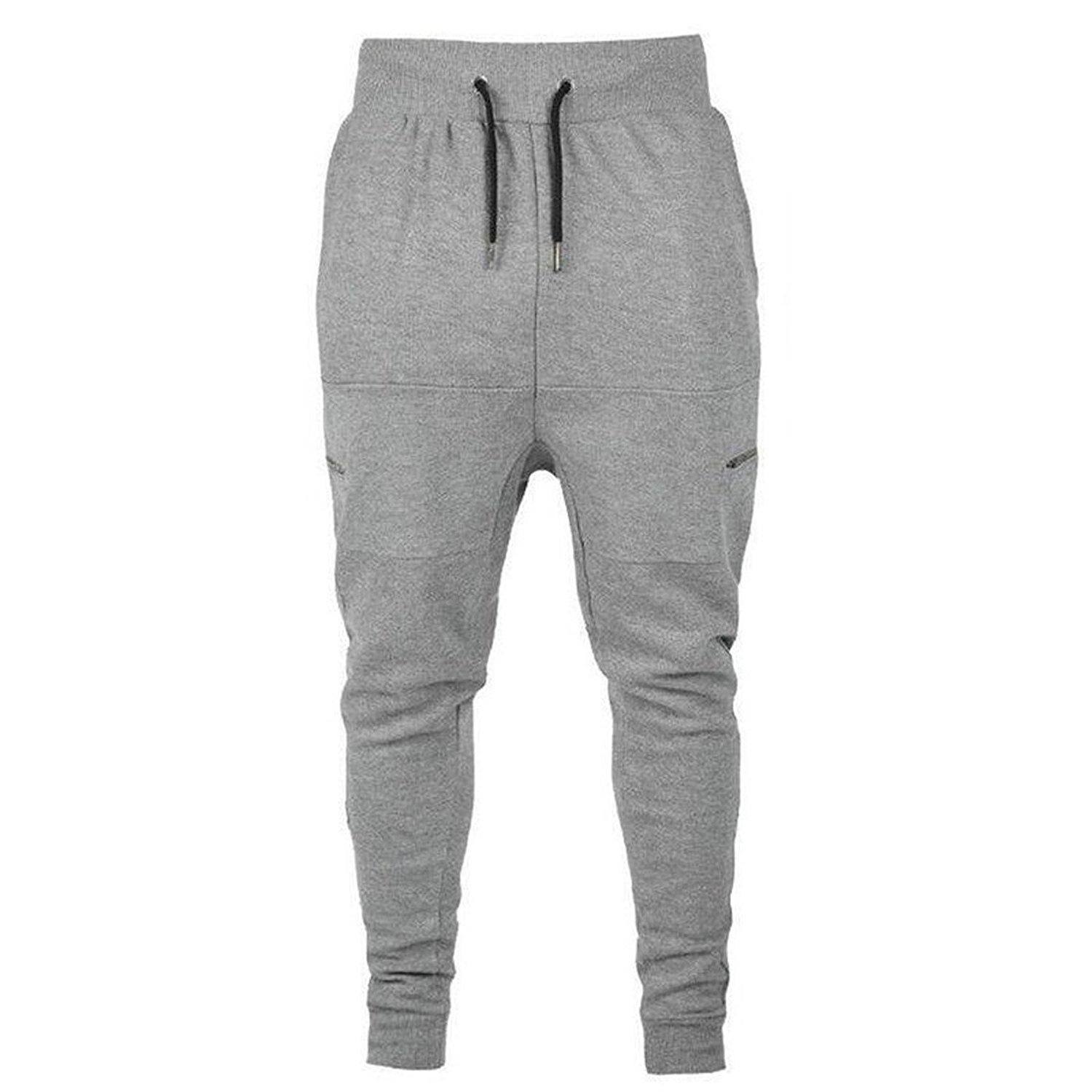 Wofupowga Mens Cuffed Stretchable Loose Casual Cozy Ankle Pants
