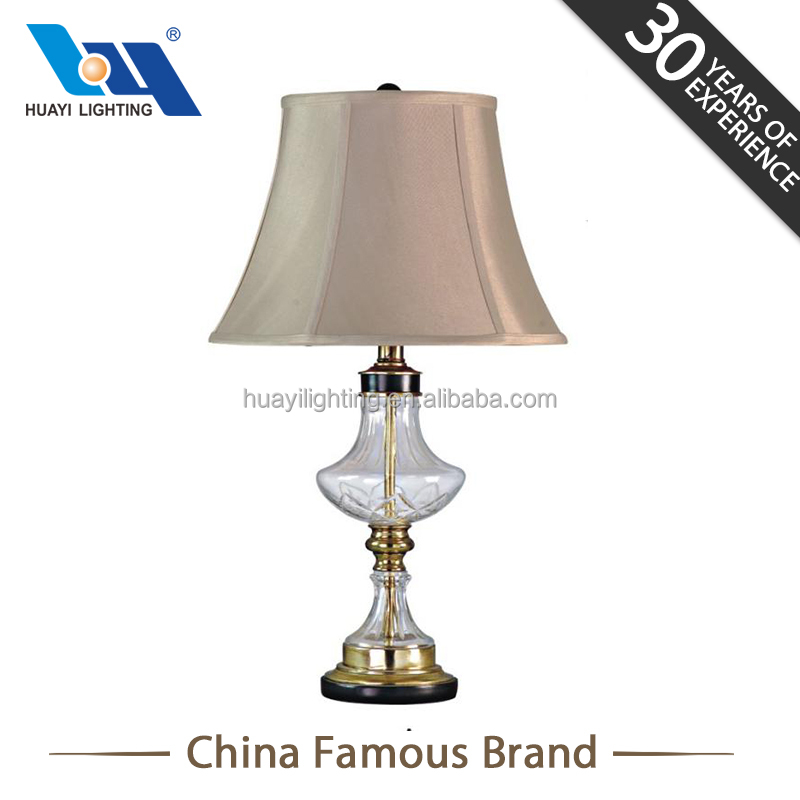 Huayi Fashion Glass Bedside Art Deco Asian Bedroom Side End Table Lamps