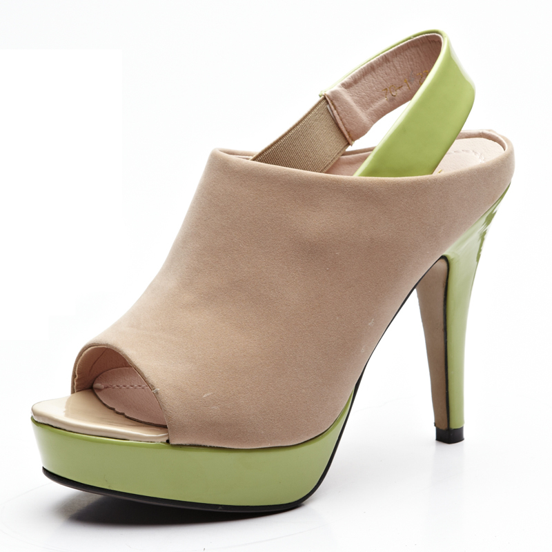 2012 thin heels open toe ultra high  women's single sexy scrub open toe shoes