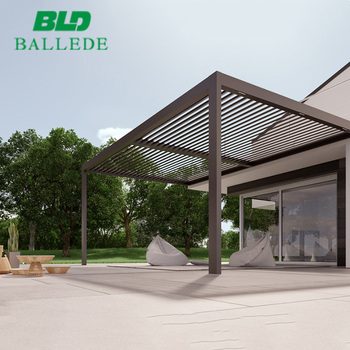 Aluminum Adjustable Louvered Roof Pergola Patio Cover