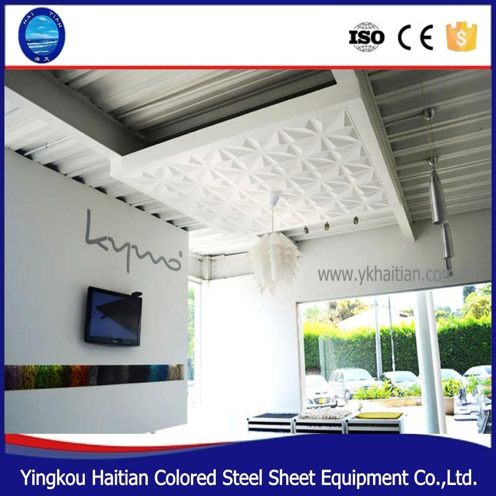 Huis plafond ontwerp 3d materiaal pvc gevelbekleding voor externe ...