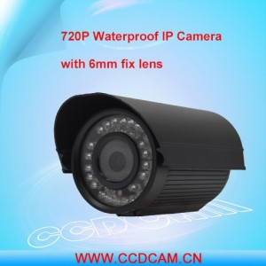 720P IR Waterproof Bullet P 2 P Small Outdoor IP Camera
