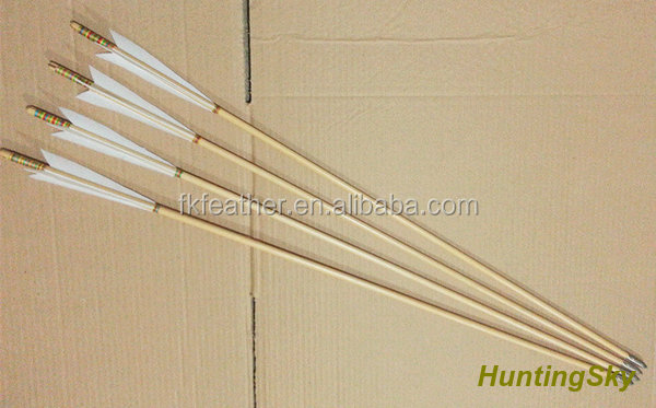 Wholesale Archery Indonesian Wood Arrow Barrel Arrow With Turkey Feather For Archery Traditional Bow And Recurve Bow