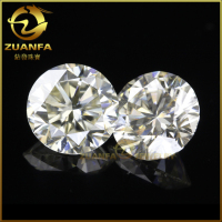 wholesale hardness 9.5 mohs 4.5mm perfect ideal cut moissanite loose stones