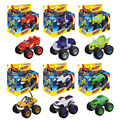 Promotion 6pcs set Blaze Monster Machines Sliding Vehicle Cars Transformation Toys BEST Birthday Christmas Gifts For