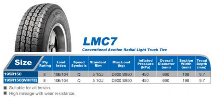 Gros pas cher pneus 195R14C chinois tire marques--ID de