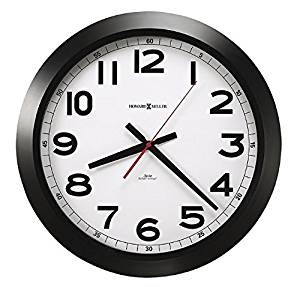 "Howard Miller Norcross Auto Daylight-Savings Wall Clock, 15-3/4"", Black, 1 AA 625-509"