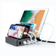 4 Port Portable Mobile Phone USB Charging Station for iPad iPhone