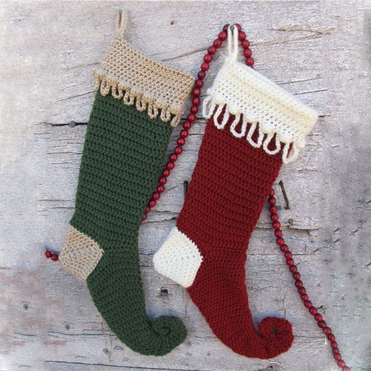 Crochet Christmas Stocking.Customize Elf Crochet Christmas Stocking Buy Elf Crochet Stocking Elf Crochet Christmas Stocking Elf Christmas Stocking Product On Alibaba Com