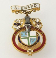 Royal Masonic Institute for Girls Pin - Vintage RMIG 1954 Steward Medal