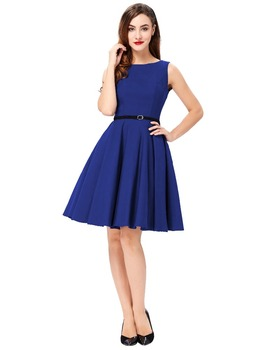 Grace Karin Cheap Short Plus Size Sleeveless Vintage Retro Royal Blue  Cotton Dresses - Buy Royal Blue Summer Dresses,Simple Summer Dresses,Summer  ...