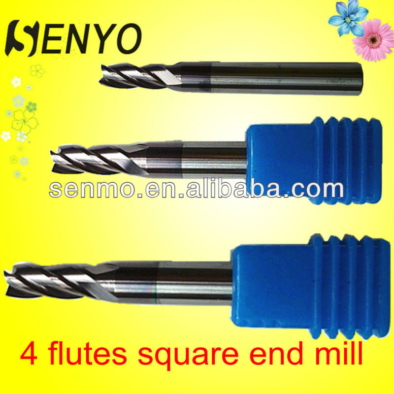 Tungsten Micro 4 Flutes Square Indexable End Mill Milling Cutter/High Speed CNC Lathe Cutting Tools Manufactuer