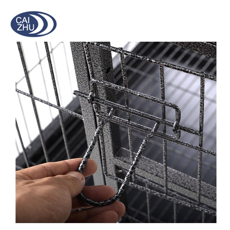 Heavy Duty Solid Metal Wire Large Dog Kennel Crate Pet Cage W ...