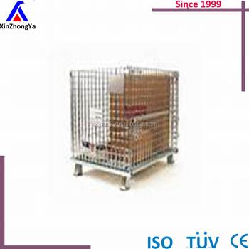 Wonderful Wire Mesh Container/stackable Steel Storage Bins/pallet Stillage Cage