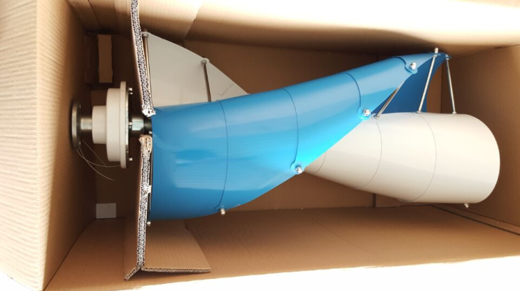 300w Vertical Axis Wind Turbine Spiral Shaped Maglev