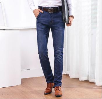 30d2b938902 OEM stretch denim pants business casual trousers straigh legging slim fit  Jeans men 2018 denim