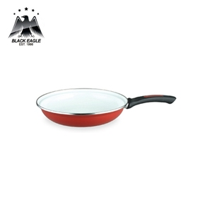 Deep hamburger enamel fry pan