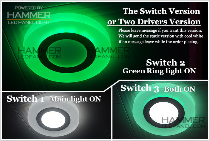 Good Miniwatt 3w 6w 12w Round Ceiling 3d Effect Cooler Door Led ...