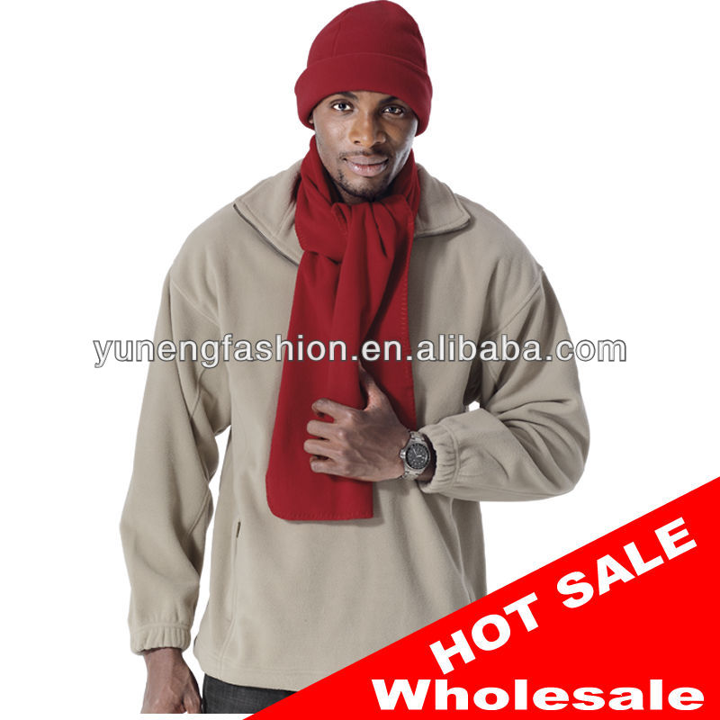 Polar fleece scarf for man