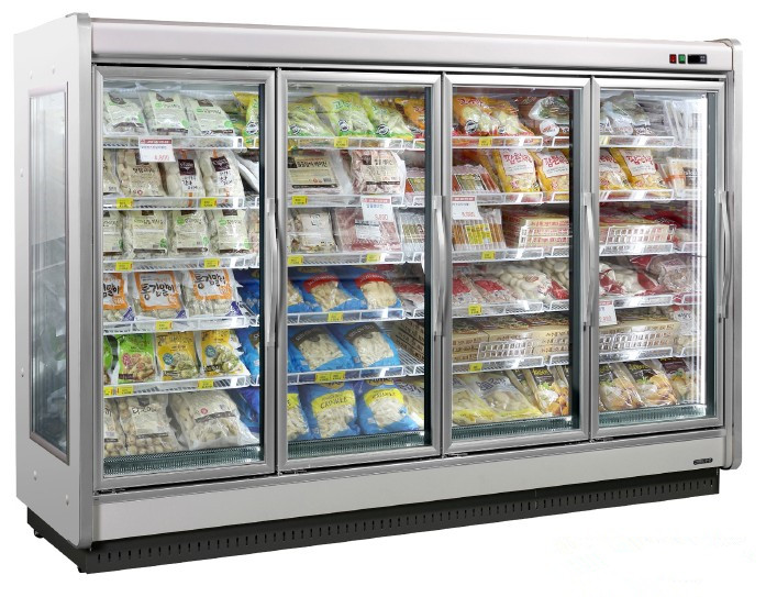 anti condensation fresh food refrigerator aluminum glass doors with LED system for refrigerator/cold room with high quality