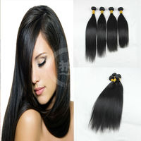 common price top quality peruvian human hair weave real virgin silk straight for black women
