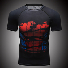 Cody Lundin <span class=keywords><strong>lycra</strong></span> marvel 3d spiderman super-héros t-shirts