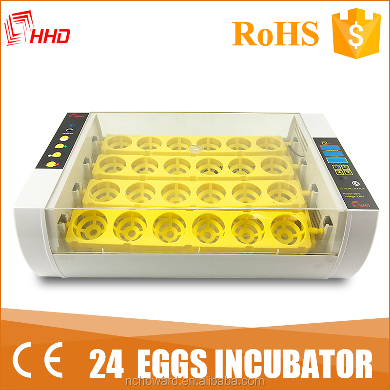 2017 China new model 24 Capacity egg incubator egg hatching machine prices YZ-24A