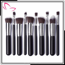 2015 hot sale professional 10 piece Synthetic hair makeup brush set beauty brush for makeup