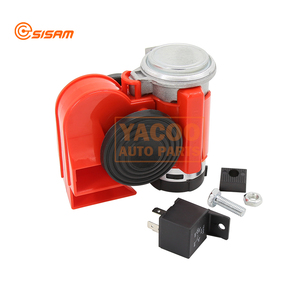 Single Pipe Red Color Musical Car Air Horn with Air Pump Horn for Motorcycle