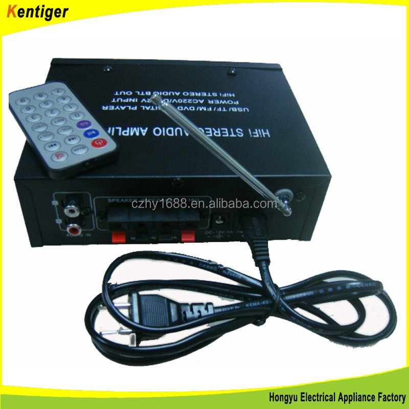 Kentiger -HY805 FM/USB/SD power home amplifier 220V input