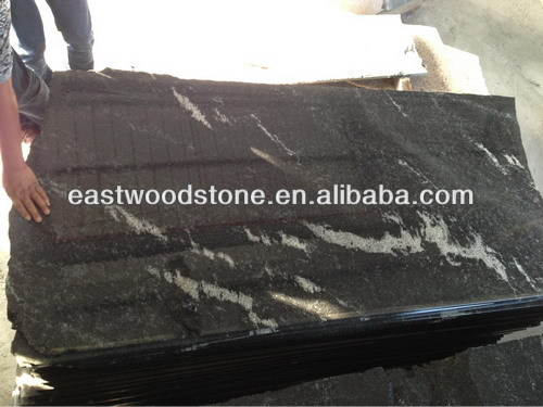 chinese sell polished new granite countertop Jet mist granite quarry
