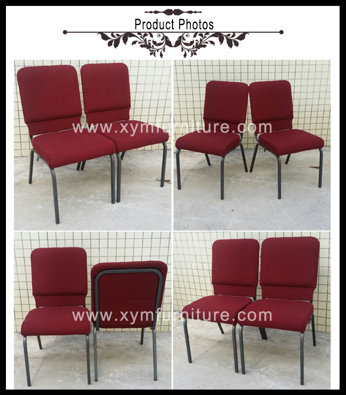 wholesale used hot sell item stacking metal church chair