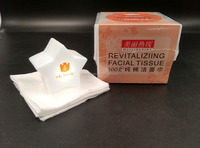 Revitaliziing facial tissue with 100% pure clean and soft cotton pads