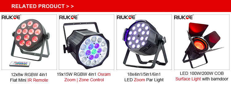 Hot-selling rechargeable light 6x12w wireless battery led par party uplight with charging case