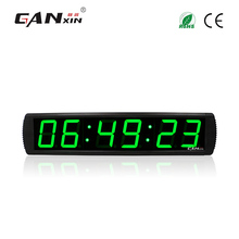 "[Ganxin]4"" 6 digit green led large digital wall clock controller countdown timer display battery powered"
