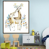 Diy oil painting elk animal 3d cartoon sexy picture