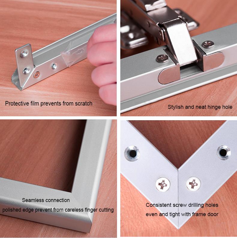 Aluminium Glas Tür Extrudierten Aluminium Türrahmen Pet Schranktür ...