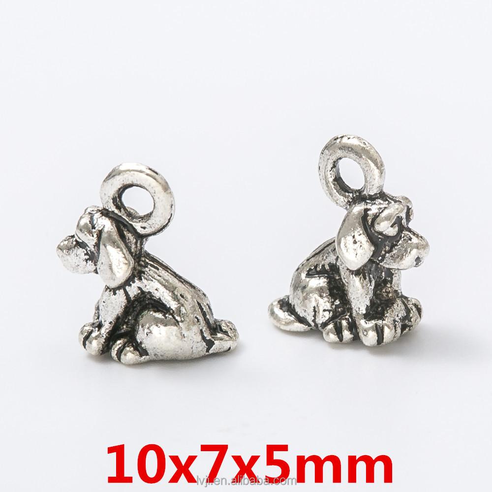 3D Poodle Dog Key Ring Tibetan Silver Antique Bronze Jewelry