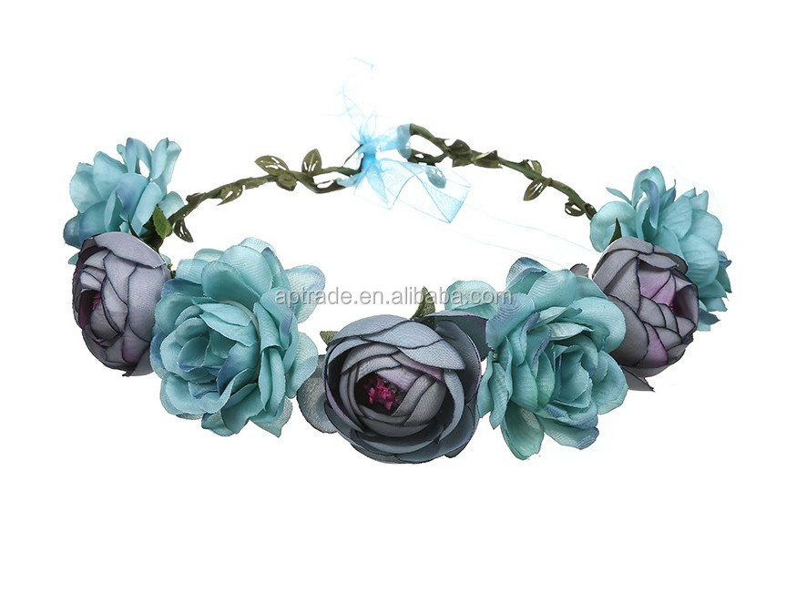 Fresh Cut Flowers Processing Type and All Colors Color Artificial Flowers and Garlands  Bride's Ring Simulates Rose Headwear