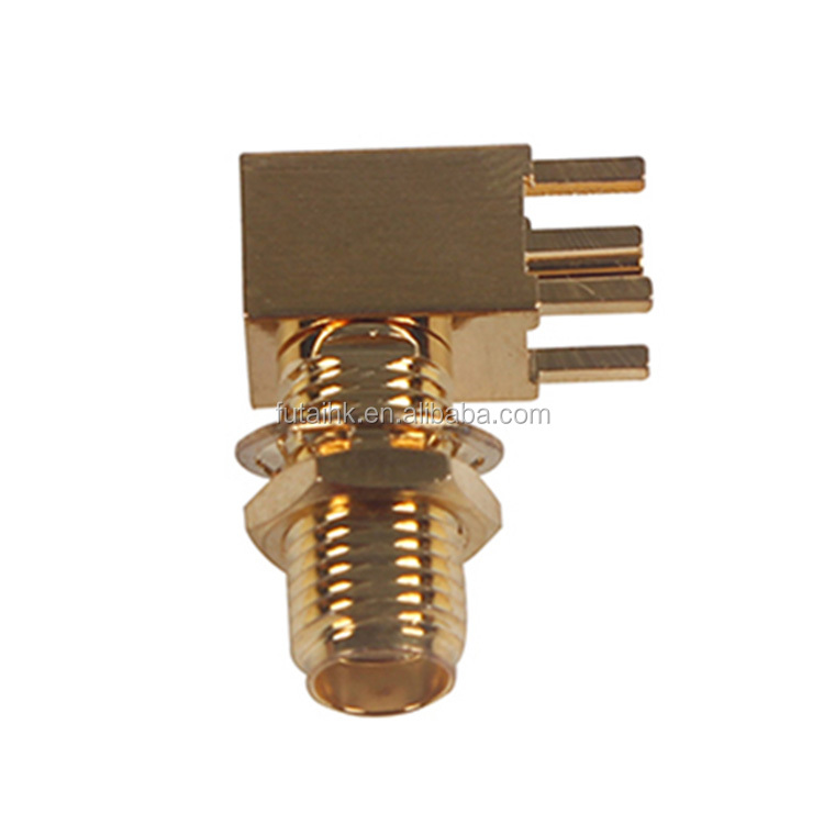 ROHS SMA PCB Female Right Angle RF Connector